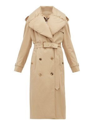 Burberry padded collar cotton gabardine trench coat