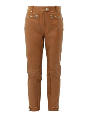 Burberry petertown panelled leather biker trousers