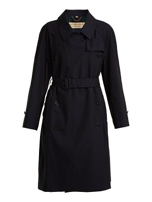 Burberry Point collar cotton-gabardine trench coat