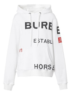 Burberry poulter logo hoodie