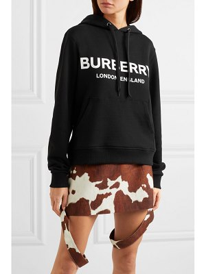 Burberry printed cotton-jersey hoodie