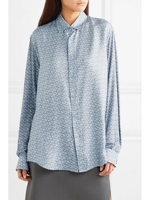 Burberry printed mulberry silk-twill shirt