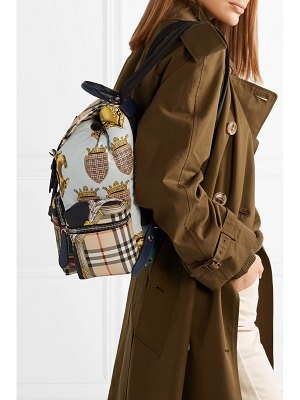 Burberry printed shell and leather backpack