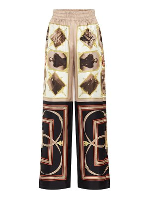 Burberry printed silk pants