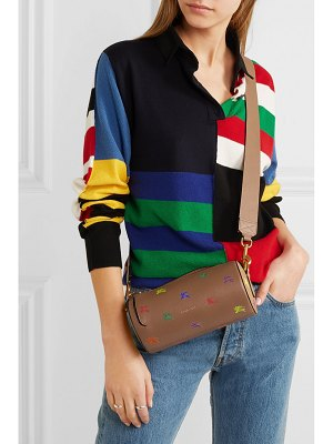 Burberry printed textured-leather shoulder bag
