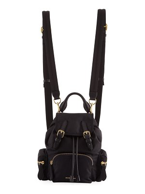 Burberry Prorsum Small Leather-Trim Nylon Rucksack Backpack