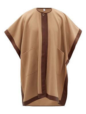 Burberry pycombe leather-trimmed cashmere cape