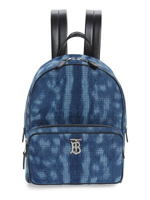 Burberry quilted check bleached deer denim backpack