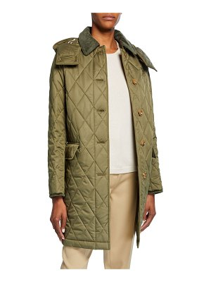 Burberry Quilted Knee-Length Coat