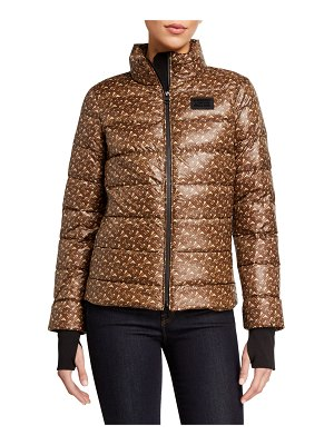 Burberry Quilted Logo Print Jacket