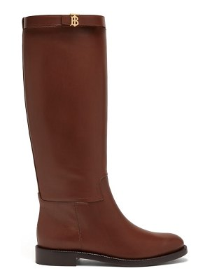 Burberry redgrave knee-high leather boots