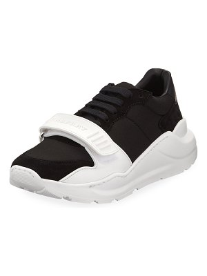 Burberry Regis Neoprene Low-Top Sneakers with Exaggerated Sole