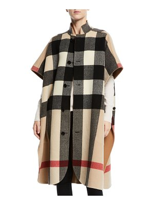Burberry Reversible Check-to-Solid Cape