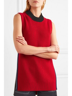 Burberry ribbed wool and cashmere-blend tank