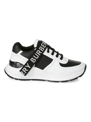 Burberry ronnie leather logo low-top sneakers