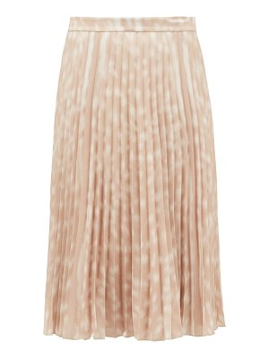 Burberry rorsby pleated bambi-print crepe skirt