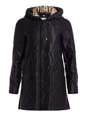 Burberry roxwell long quilted coat