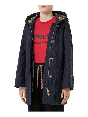 Burberry roxwell vintage check hood thermoregulated quilted coat