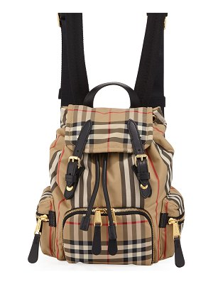 Burberry Rucksack Small Heritage Stripe Canvas Backpack