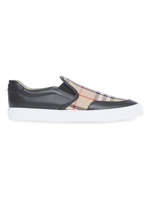 Burberry salmond vintage check slip-on sneakers