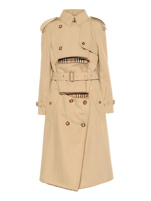 Burberry shearling-trimmed trench coat