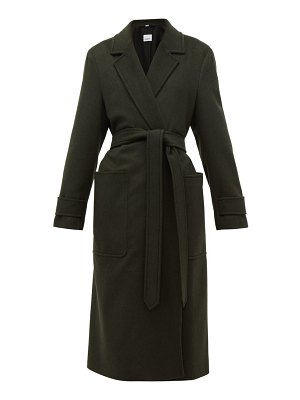 Burberry sherringham belted cashmere coat