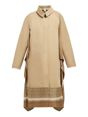 Burberry silk trimmed cotton gabardine car coat