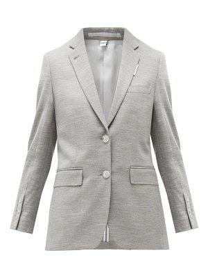 Burberry single-breasted wool-blend jersey jacket