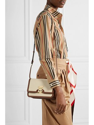 Burberry small canvas and leather shoulder bag