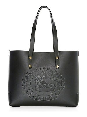 Burberry small crest-embossed tote