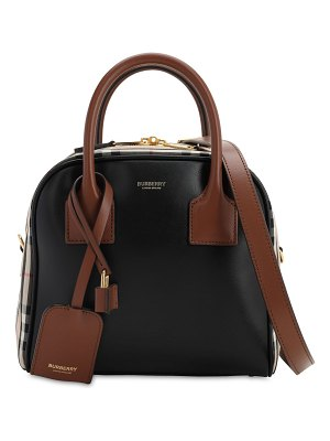 Burberry Small cube leather bag