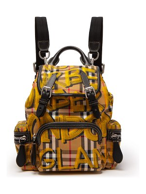 Burberry Small graffiti and Vintage check-print backpack