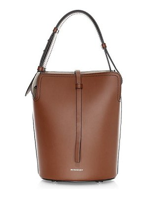 Burberry small leather bucket bag