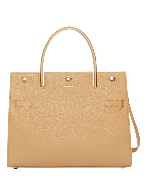 Burberry small title leather bag