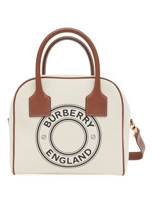Burberry small logo canvas cube bag