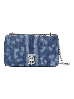 Burberry small lola quilted denim shoulder bag