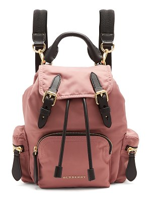 Burberry Small nylon and leather backpack