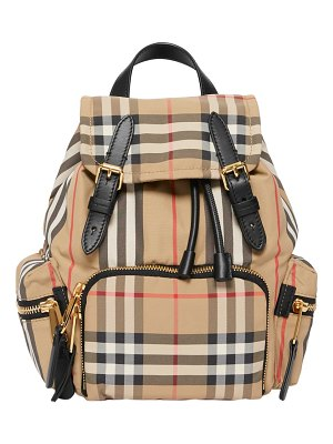 Burberry small rucksack heritage check backpack