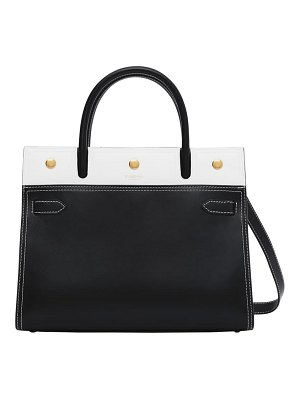 Burberry small title colorblock leather bag