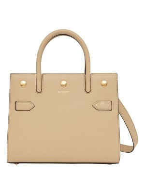 Burberry small title leather satchel