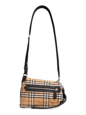 Burberry small vintage check sailing duffel sling bag