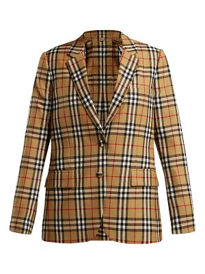 Burberry Snowdon single-breasted checked wool blazer