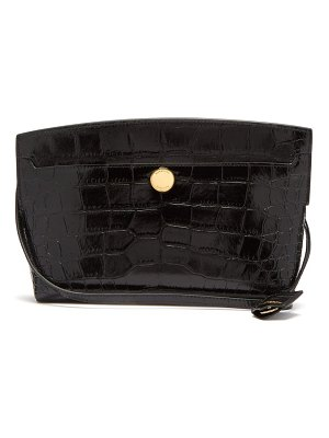 Burberry society crocodile-effect leather cross-body bag