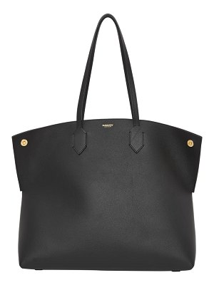 Burberry large society grainy leather tote