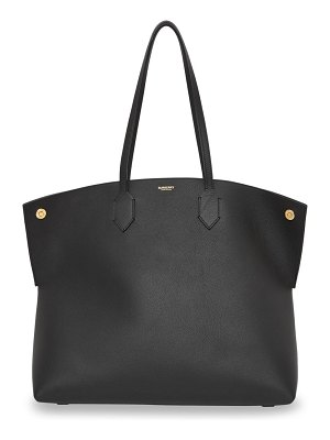 Burberry society leather tote