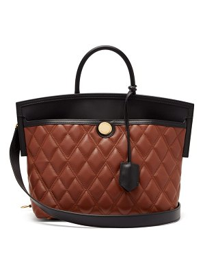 Burberry society small quilted leather tote bag