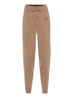 Burberry stretch-cashmere trackpants