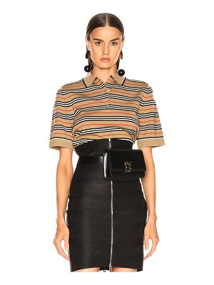 Burberry stripe polo top