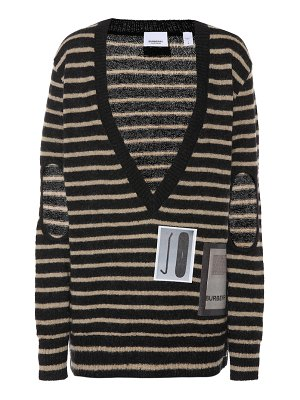 Burberry striped mohair-blend sweater