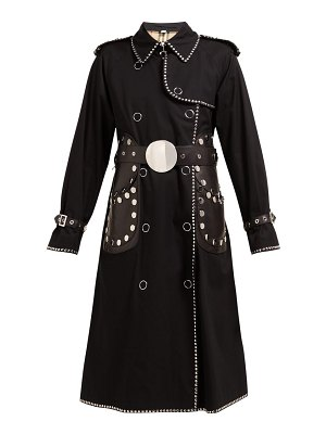 Burberry stud embellished cotton gabardine trench coat